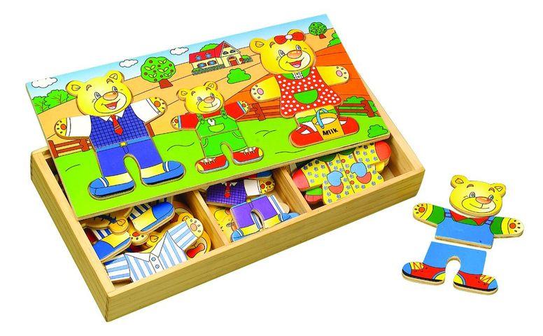 """Puzzle šatní skříň """"3 medvědi"""""""